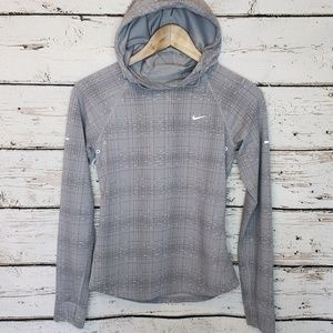 Nike Running Reflective Vented Hoodie Gray Size XS